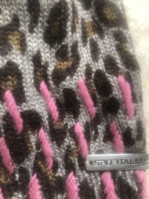 Sportalm Sombrero de piel rosa neón-beige Cachemir