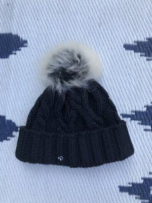 Sportalm Chapeau en tricot noir