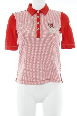 Sportalm Polo-Shirt abstraktes Muster extravaganter Stil
