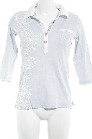 Sportalm Camiseta tipo polo azul pálido-blanco look casual