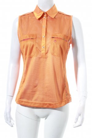 Sportalm Polo Top dunkelorange-rostrot Casual-Look