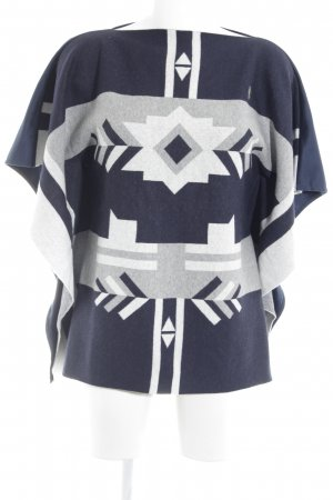 Sportalm Poncho abstract patroon pluizig