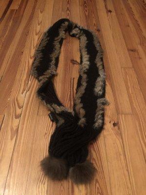 Sportalm Schal mit Kaninchenfell