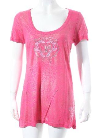 Sportalm Shirt magenta Leomuster Casual-Look