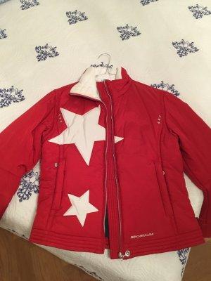 Sportalm Skijacke rot mit Sternen