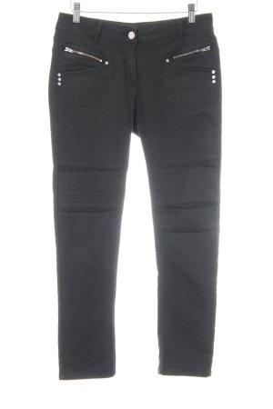 Sportalm Skinny Jeans schwarz Biker-Look