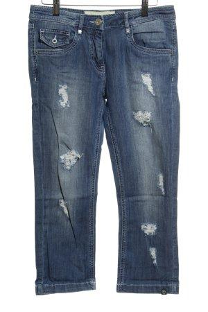 Sportalm Skinny Jeans stahlblau meliert Destroy-Optik