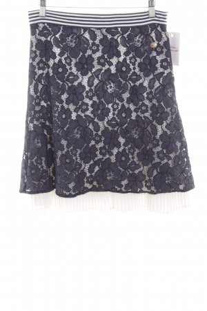 Sportalm Lace Skirt blue flower pattern casual look