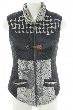 Sportalm Quilted Gilet black-gold-colored spot pattern casual look