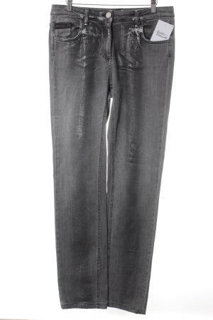 Sportalm Jeans coupe-droite gris-argenté style décontracté