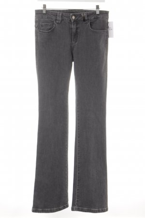 Sportalm Straight-Leg Jeans grau-wollweiß meliert Logo-Applikation aus Metall