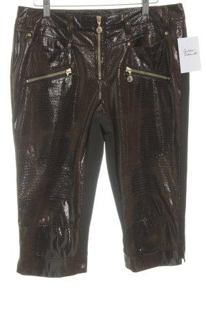 Sportalm Stretch Trousers dark brown-brown abstract pattern elegant