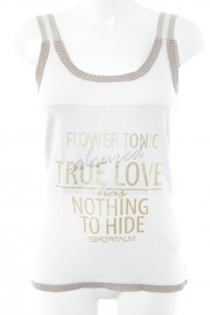 Sportalm Knitted Top white themed print athletic style
