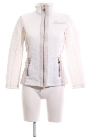 Sportalm Veste sweat blanc-crème lettrage brodé style d'affaires