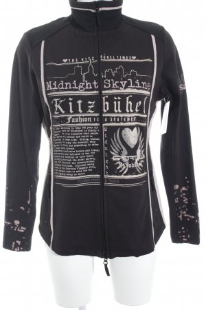 Sportalm Sweat Jacket black-rose-gold-coloured printed lettering casual look