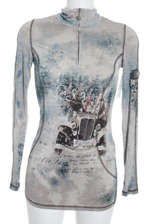 Sportalm Sweatshirt abstraktes Muster extravaganter Stil