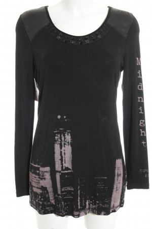 Sportalm Sweatshirt schwarz Motivdruck Casual-Look