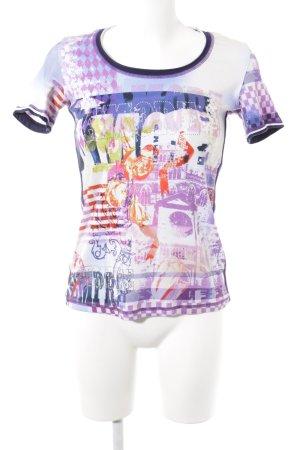Sportalm T-Shirt abstraktes Muster Bänderverzierung