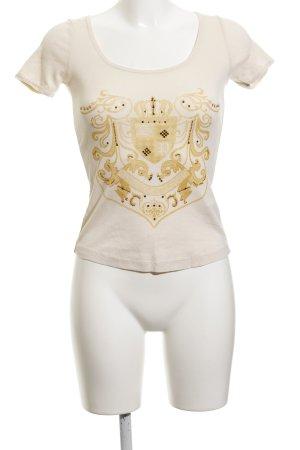 Sportalm T-Shirt creme abstrakter Druck extravaganter Stil