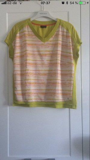 Sportalm T-Shirt Gr S 36 gelb grün Materialmix