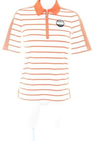 Sportalm T-Shirt neonorange-weiß sportlicher Stil