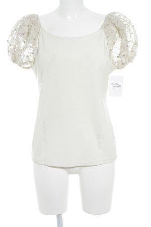 Sportalm T-Shirt wollweiß-hellbeige Elegant