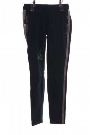 Sportalm Thermal Trousers black-bronze-colored striped pattern business style