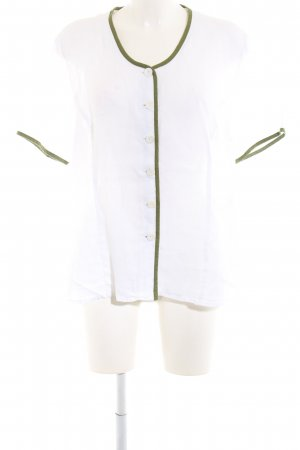 Sportalm Traditional Blouse white-green casual look