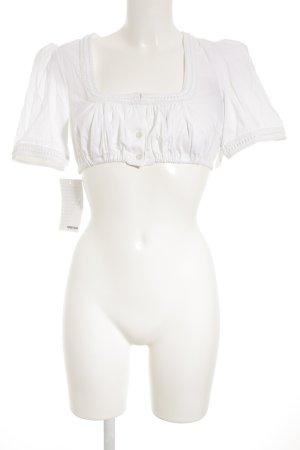 Sportalm Blouse bavaroise blanc style extravagant