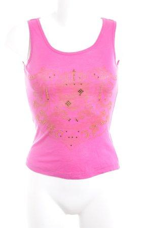 Sportalm Trägertop pink-goldfarben Casual-Look