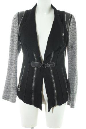Sportalm Übergangsjacke schwarz-grau Streifenmuster Casual-Look