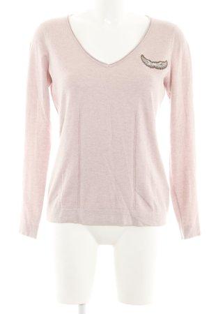 Sportalm V-Ausschnitt-Pullover pink meliert Casual-Look