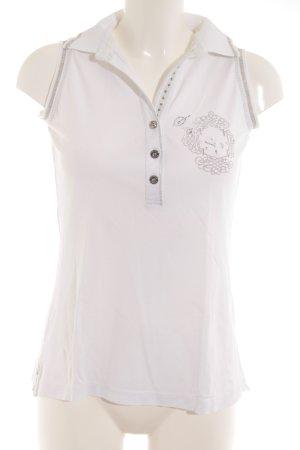 Sportalm V-Ausschnitt-Shirt weiß-silberfarben Casual-Look