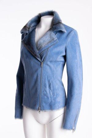 SPORTALM - Wendejacke mit Fake Fur-Einsatz Blau NEU