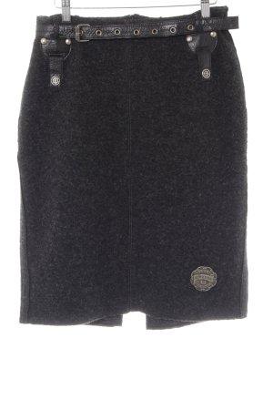 Sportalm Gonna di lana nero stile semplice