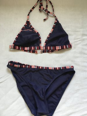 Sportarena Bikini, 36 blau, rot weiß