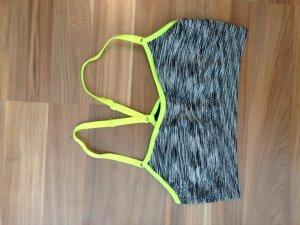Sportbh Bustier Top Melange schwarz weiss neon gelb Active Sportswear cool
