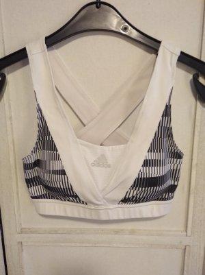 Adidas Haut bustier blanc-noir