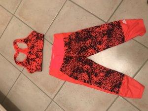 Adidas Pantalon de sport orange fluo