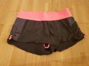H&M Sport Shorts dark grey-pink
