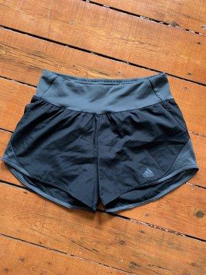 Adidas Short de sport noir-argenté
