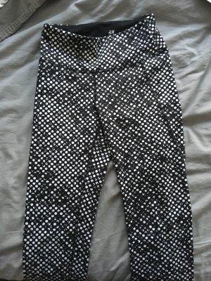 H&M Sportbroek zwart-wit