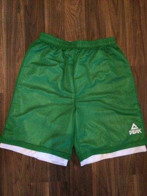 Short de sport blanc-vert forêt