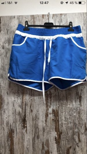 Sport Shorts white-neon blue
