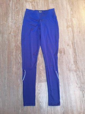 Sporthose Crivit Leggings Legging XS/S 36 blau mesh Einsätze