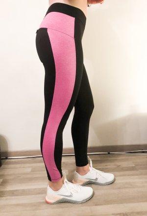 Pantalon de sport noir-rouge framboise