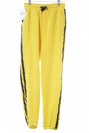Pantalon de sport jaune-noir style athlétique