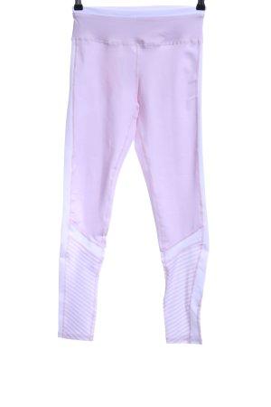 Sporthose rosa-weiß Colourblocking sportlicher Stil