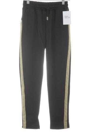 Sporthose schwarz-goldfarben sportlicher Stil