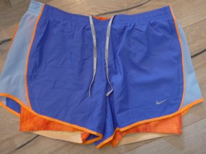 Nike Short de sport bleu violet-orange